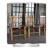 The Three Chairs Shower Curtain