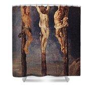 The Three Crosses Shower Curtain