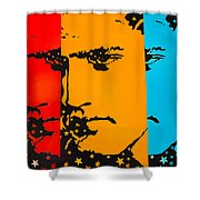 The Three Faces Of Elvis Shower Curtain
