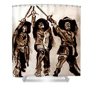 The Three Musketeers Shower Curtain