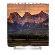 The Three Sisters Canmore Shower Curtain