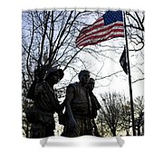 The Three Soldiers - Vietnam War Memorial Shower Curtain