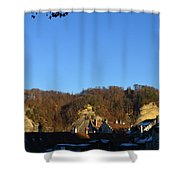 The Three Stones From Burgdorf Shower Curtain