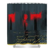The Three Trees - J22206237a Shower Curtain