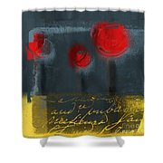 The Three Trees Shower Curtain by Variance Collections