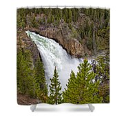 The Thundering Lower Yellowstone Falls Shower Curtain
