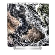 The Tide From Above Shower Curtain
