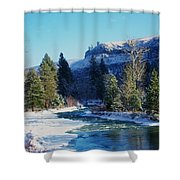 The Tieton River Shower Curtain by Jeff Swan