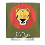 The Tiger Cute Portrait Shower Curtain
