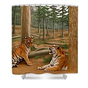 The Tigers Shower Curtain