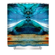 The Time Traveler - Surreal Fantasy Art By Sharon Cummings Shower Curtain
