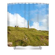 The Tin Mines Of Cornwall Shower Curtain