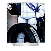The Tire Man Shower Curtain
