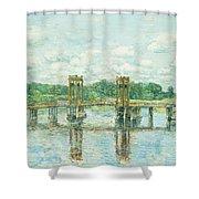 The Toll Bridge New Hampshire Shower Curtain