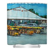The Tomatoe Vine Shower Curtain