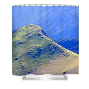 The Top Of Catbells In The Lake District Shower Curtain