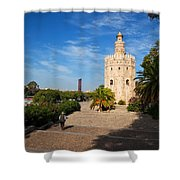The Torre Del Oro, Gold Tower, Military Shower Curtain