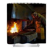 The Torresta Blacksmith Shower Curtain