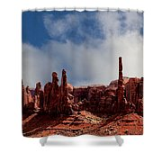 The Totems Monument Valley Shower Curtain