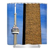 The Tower And The Stack Shower Curtain
