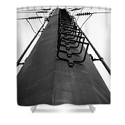 The Tower Shower Curtain by Edward Fielding