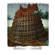The Tower Of Babel Shower Curtain