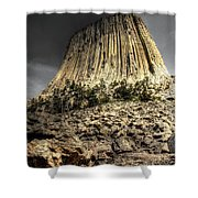 The Tower Of Boulders Shower Curtain