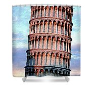 The Tower Of Pisa Shower Curtain