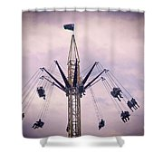 The Tower Swing Ride 1 Shower Curtain