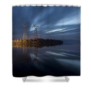 The Towers Of Power Shower Curtain