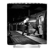 The Train Conductor Shower Curtain by Bob Orsillo