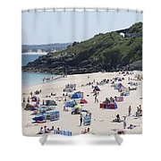 The Train Line Porthminster Shower Curtain
