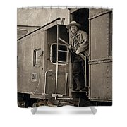 The Train Robber Shower Curtain