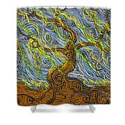 The Tree Have Eyes Shower Curtain