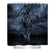 The Tree Of Sawols Cyanotype Shower Curtain