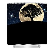 The Tree The Moon The Stars Shower Curtain