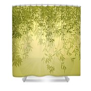 The Trees First Light Shower Curtain