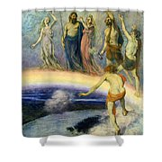 The Trek Of The Gods To Valhalla Shower Curtain