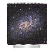 The Triangulum Galaxy Shower Curtain by Reinhold Wittich