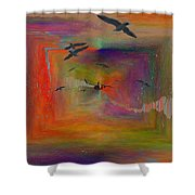 The Tributaries Shower Curtain by Tim Allen