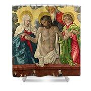 The Trinity And Mystic Pieta Shower Curtain
