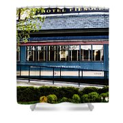 The Trolley Stop - Hotel Fiesole Shower Curtain