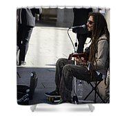 The Troubadour - Javier Manik 1 Shower Curtain