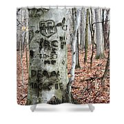 The True Love Tree Shower Curtain