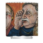 The Truth About Edna Shower Curtain