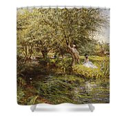 The Trysting Place Shower Curtain