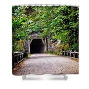 The Tunnel On The Scenic Route Shower Curtain