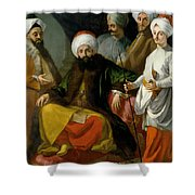 The Turkish Ambassador And His Entourage At The Court Of Naples Shower Curtain