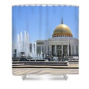 The Turkmenbashi Palace In Independence Square In Ashgabat Turkmenistan Shower Curtain