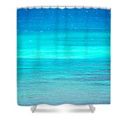 The Turquoise Sea Shower Curtain